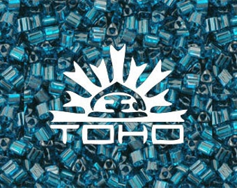 Capri Blue  #7BD Toho Japanese Glass Size 11 Triangle Seed Beads 20g 11/0 #Z14