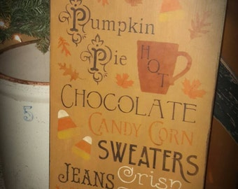 Large Primitive Fall Typography Sign