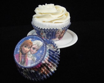 Frozen Cupcake Liners, Baking Cups, Muffin Papers, Frozen Party, Muffin Cups, Cupcake Cups - Qty 25