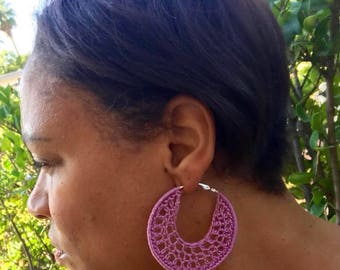 Pink Crochet Earrings/Pink Earrings/Earrings/Crochet Earrings/Crochet Earrings/Gifts for Her