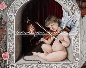 Violinist Oil Painting
