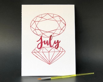 July Birthstone - Paint Kit