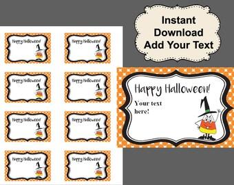 Halloween Tags, Printable Tags, Gift Tags, Printable gift tags, Halloween gift tags, Treat bag tags, Halloween Favor Tags, Happy Halloween