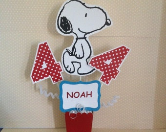 Peanuts, Snoopy, Charlie Brown Party Centerpiece Decoration