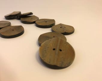 Large 45L Natural Horn Buttons