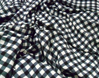 Black and White Plaid Cotton Fabric Tartan Summer Fabric