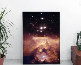 Space poster. Scorpius constellation Art Print. Outer space. Galaxy Art. Hubble Art. Nasa Poster. Wall decor. Astronomy Art. GİCLEE