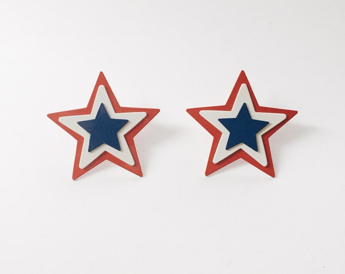 vintage earrings | vintage statement earrings | Americana earrings | Patriotic Earrings | Able Shoppe
