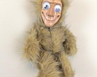 Original Hand Made Googly-Eye Creepy Teddy Bear Doll