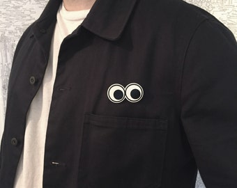 Googly Eyes White Metal Pin