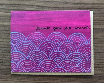 Scallops Thank You Card