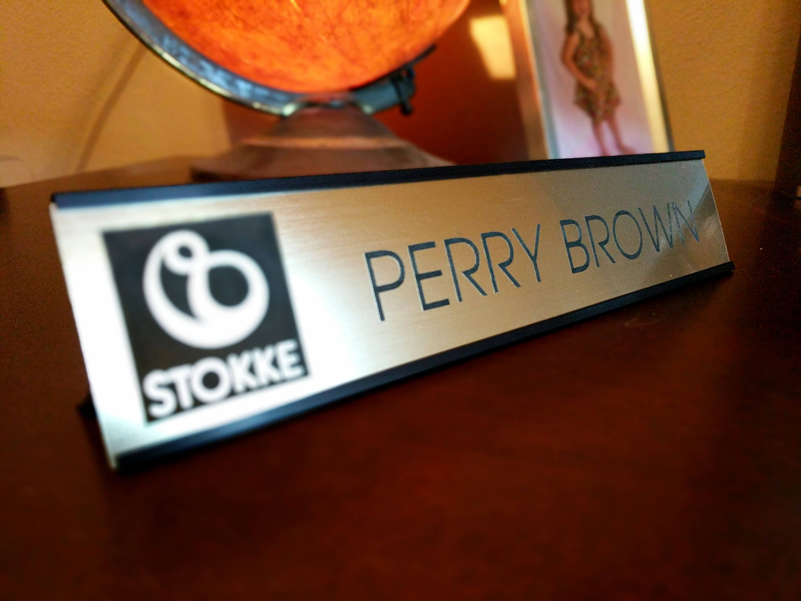 Desk Name Plate Home & Work Decor Personalized Name Tag