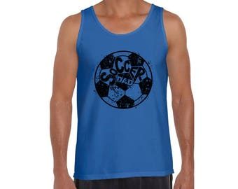 Soccer Dad Tank Tops Tank Top Fathers Day Gift Best Soccer Dad Ever Gift for Him Sports Dad