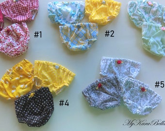 """18 Inch Doll Clothes - Set of 3 Panties Sets to fit 18"""" dolls - Underwear - Doll Panties - Bloomers"""