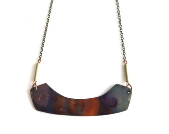 Heat Patina Necklace