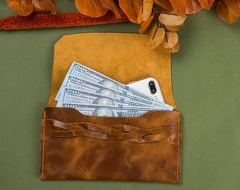 leather women wallet, brown leather women wallet, brown  wallet, leather card holder, leather thin card wallet, card holder and wallet