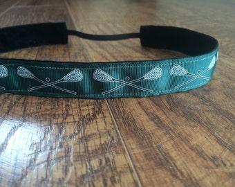 Dark green Lacrosse headband. Hunter green lacrosse headband, lacrosse headband, girls hair accessory, non-slip headband, sports headband