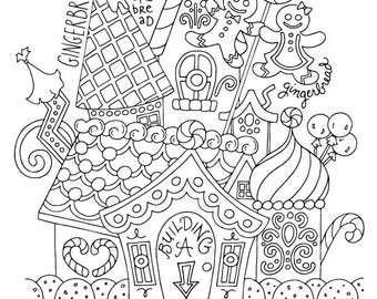 Joy to the world christmas coloring page kids holiday gingerbread house christmas coloring page kids holiday slugs and bugs printable download publicscrutiny Images
