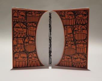 """Tear paper - limited edition """"Orange"""" card holder"""