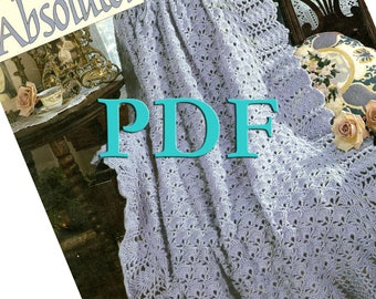 PDF - Absolutely Gorgeous, Book 2, 1996, 5 crochet afghan designs