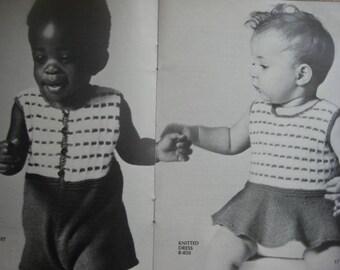 Baby Knitting Patterns, Romper and Dress, PDF Patterns - Vintage Patterns B-849, B-850