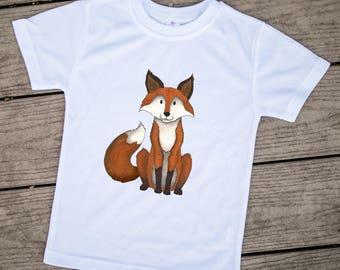Fox Kids Clothes, Cute Toddler Clothes, Cute Kids Clothes, Unique Kids Clothes, Fall Toddler Clothes, Fox kids, Kids tshirt, Red Fox, Gift