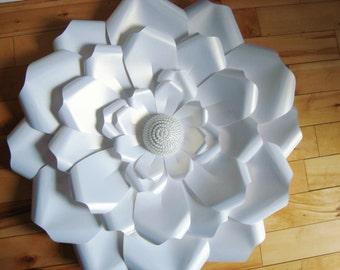 Large Paper Rose - Paper flowers | Baby Nursery | Paper flower wedding | Home Decor | Baby Nursery decor | Paper Roses | Wedding Decor