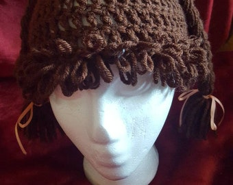 Brunette cabbage patch hat