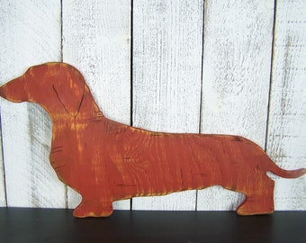 Wooden Doxie Dachshund Wall Decor Sausage Dog Silhouette Wiener Dog Wall Art Dachshund Gift Dog Nursery Art Weiner Dog Decor Dog Sign