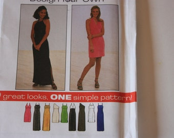 UNCUT  Simplicity Pattern 8015  - Misses / Misses Petite Knit Dress - one pattern for Nine great looks - design your own