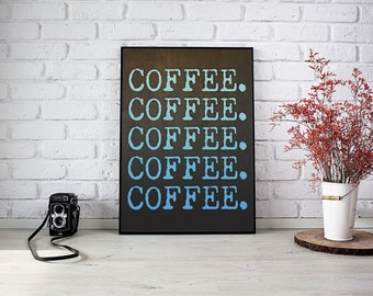 Coffee Digital Print Background