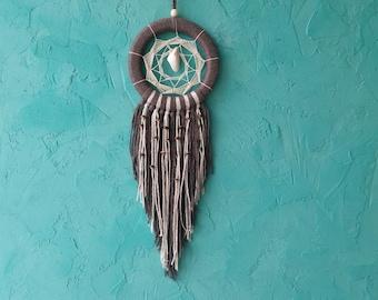 Beige Brown Dream Catcher, Medium Dreamcatcher, car dream catcher, boho dreamcatchers, wall decor, wall hanging, handmade