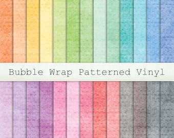 Textured Look Bubble Wrap Printed Vinyl - Choice of 26 colours in Permanent Glossy or Permanent Matte