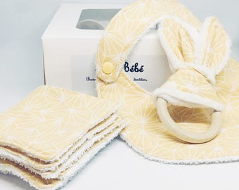 """New - Box gift birth """"yellow origami"""" Collection / / mixed birth gift"""