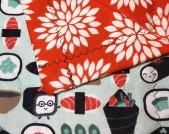 Sushi Lover's Adult Flannel Blanket