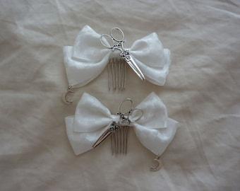 Antique Scissors Hair Comb (2 set)
