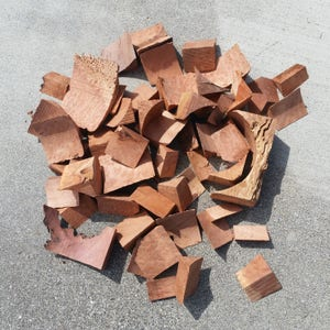 Box of Redwood Burl Scrap Pieces - Figured Assorted Redwood Burl Wood 4 - 5 lbs - Wood Jewelry, Wood Ring, Pen Blanks, Burl Slab