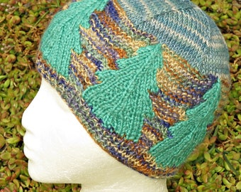 Science March Forest Beanie knitting pattern