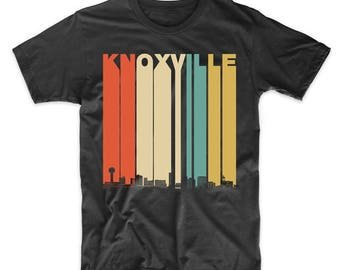 Vintage Retro 1970's Style Knoxville Tennessee Skyline T-Shirt