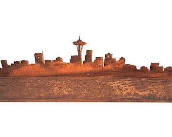Steel Seattle Skyline Shelf