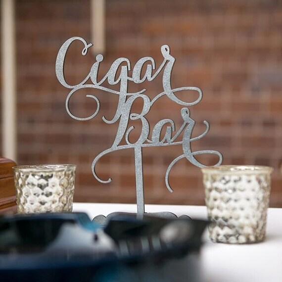Laser Cut Wood Wedding Sign, Cigar Bar, Rustic Cigar Bar Sign, Cigar Decor, Groom Gift, Gift for Groom, Cigar Lounge Sign, Wedding Sign