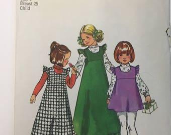 Vintage Child's Long or Short Jumper & Blouse Pattern Simplicity 5995