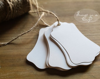 Customizable ivory labels-set of 30