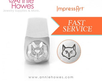 Fox Design Stamp for Metal Jewelry Stamping. 6mm