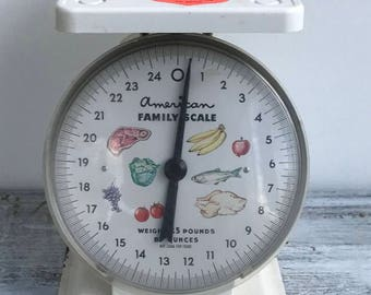 American Family Scale , kitchen scale , vintage scale