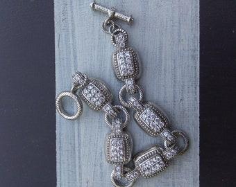 RETIRED Judith Ripka 8inch  bracelet