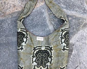 Cotton shoulder hobo bag