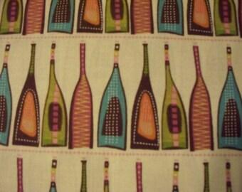 Retro Bottles On Shelf Cream Cotton Fabric Fat Quarter Or Custom Listing