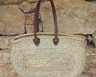 Moroccan Oval Straw Beach/Basket Bag