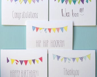 Bunting Greeting Card Pack